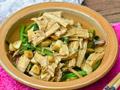 菠菜炒腐竹