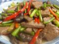 蒜苔炒猪肝