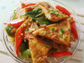 简单家常菜泰式甜辣脆皮豆腐