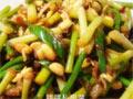 黄豆芽炒蒜薹
