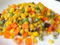 玉米炒三色