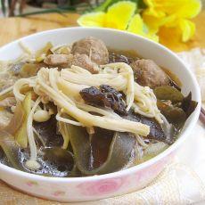 金针菇牛肉丸汤煲