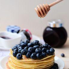 蜂蜜蓝莓松饼