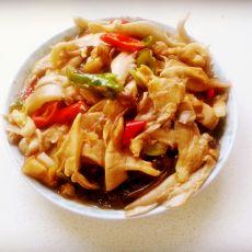 蘑菇粉条炒五花肉