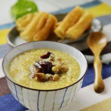 黄米红枣葡萄干粥