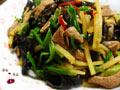 春节养生三丝炒猪肝