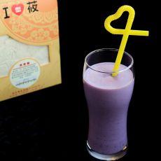 紫薯牛奶燕麦糊