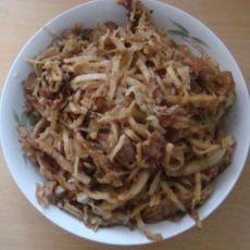 白菜肉炒饼
