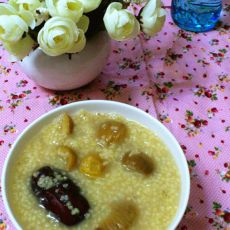 红枣板栗小米粥