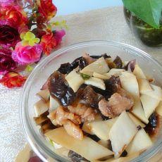 杏鲍菇木耳炒肉