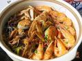 海虾河蟹粉丝煲