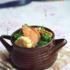 三文鱼排玉米汤