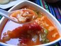 菜花番茄蛤蜊汤