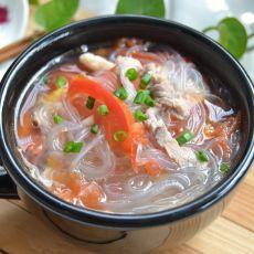 瘦肉番茄粉丝汤