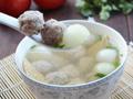 生汆丸子汤