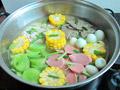 鹑蛋猪肝锅