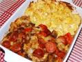 烤火腿肠和土豆