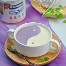 炼奶紫薯果冻