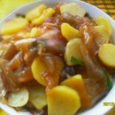 土豆炖粉皮
