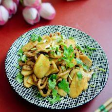 双菇炒肉丝