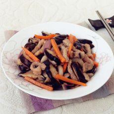 猪肉炒香菇