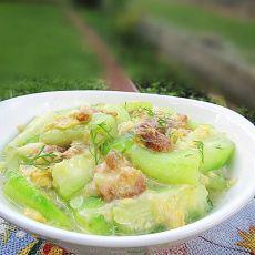 鸡蛋虾米炒丝瓜