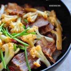 咸肉炒花菜