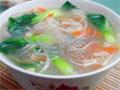 金针粉丝青菜汤