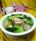 青菜五花肉土豆汤