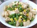 辣椒玉米烧豆腐