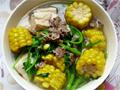 玉米豆腐牛肉菜汤