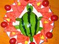 小乌龟爱心水果拼盘