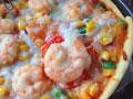 鲜虾培根薄披萨
