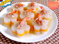 萝卜酿虾球