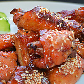 脆皮果酱烤鸡