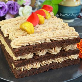 板栗巧克力蛋糕