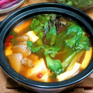 鲜蔬豆腐麻辣烫火锅
