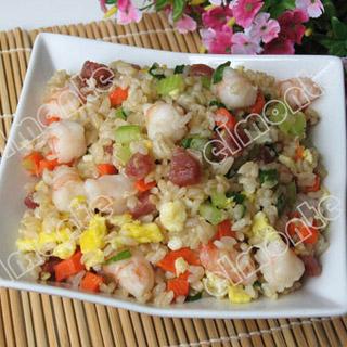 杂锦炒糙米饭