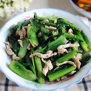 鸡丝炒油麦菜