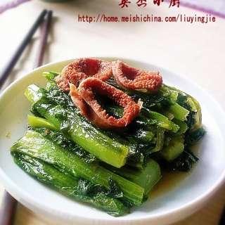 油麦菜炒鸡生肠