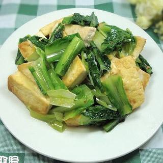 豆腐烧油麦菜