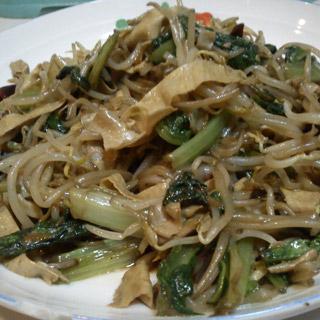 绿豆芽油麦菜炒豆皮