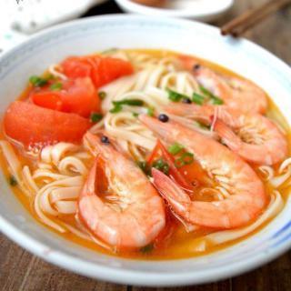 鲜虾番茄挂面
