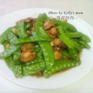 扇贝荷兰豆