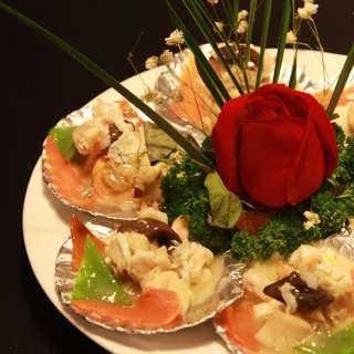 芙蓉扇贝虾