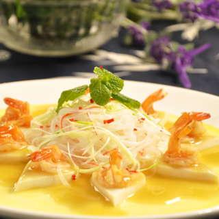 鲜虾粉丝蒸豆腐