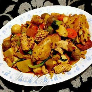 什锦麻辣菜肴