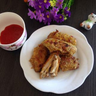 麦片烤鸡翅