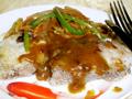 香煎鳕鱼配咖喱汁