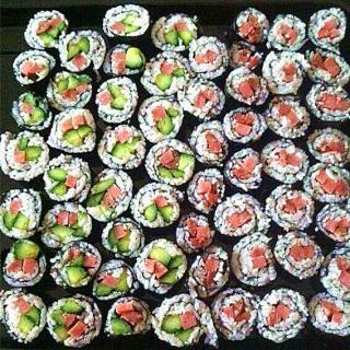 简易版香肠寿司